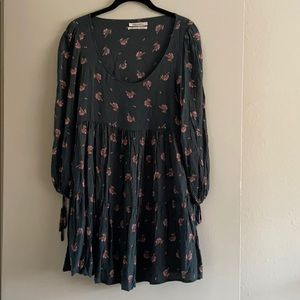 Urban Outfitters Long sleeve Floral Peasant Dress